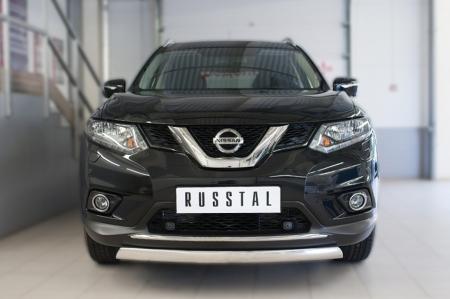 Nissan X-Trail 2015 Защита переднего бампера d75х42 (дуга) NXZ-002085